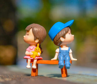 Cute Kid Couple Toy Wallpaper